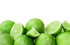 Fresh ripe limes Stock Images