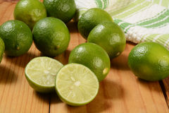 Fresh ripe limes Royalty Free Stock Images