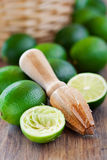 Fresh ripe limes Stock Photography