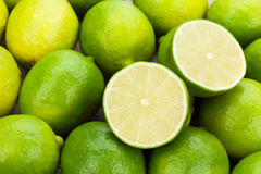Fresh ripe limes Royalty Free Stock Photos
