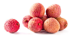 Fresh ripe lychees Stock Image