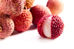 Fresh ripe lychees Royalty Free Stock Photography