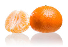 Fresh ripe mandarin. Royalty Free Stock Photos