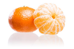 Fresh ripe mandarin. Royalty Free Stock Image