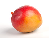 Fresh ripe mango fruit. Over white background Royalty Free Stock Photography