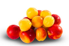 Fresh ripe Nectarines and apricots Royalty Free Stock Photography