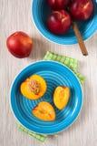 Fresh Ripe Nectarines Stock Images