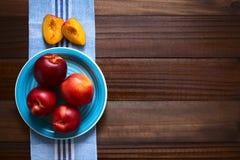Fresh Ripe Nectarines Royalty Free Stock Photos