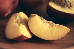 Fresh Ripe Nectarines Stock Photo