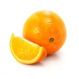 Fresh ripe orange fruit isolated on the white royalty free stock photo