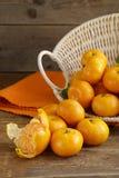 Fresh ripe orange mandarins (tangerines) Royalty Free Stock Image
