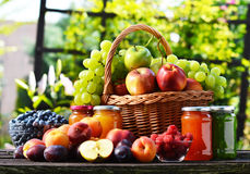 Fresh ripe organic fruits in the garden. Balanced diet Royalty Free Stock Images
