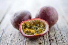 Fresh ripe passion fruit Royalty Free Stock Photos