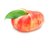Fresh ripe peach with leaf. Stock Photography