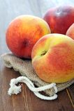 Fresh ripe peach Stock Photos