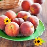 Fresh ripe peaches Royalty Free Stock Photography