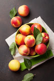 Fresh ripe peaches Royalty Free Stock Photo