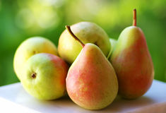 Fresh ripe pears Stock Photo