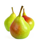 Fresh Ripe Pears Isolated on the White Background Stock Photos