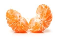 Fresh ripe peeled mandarines Royalty Free Stock Image