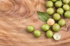 Mamoncillo delicious tropical fruit - Melicoccus bijugatus. Fresh ripe peeled quenepa fruit - Melicoccus bijugatus Stock Image