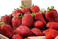 Fresh Ripe Perfect Strawberries Royalty Free Stock Image