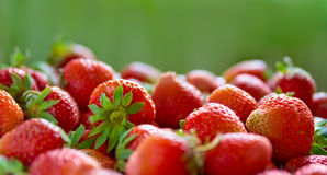 Fresh ripe perfect strawberry. Panorama of Fresh ripe perfect strawberry. Food Frame Background Royalty Free Stock Photos