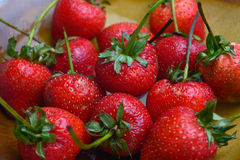 Fresh ripe perfect strawberry Royalty Free Stock Photography