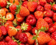 Fresh ripe perfect strawberry - Food Frame Background Stock Photography