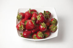 Fresh ripe perfect strawberry - Food Frame Background Royalty Free Stock Photos