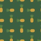 Fresh Ripe Pineapple Seamless Pattern Royalty Free Stock Image