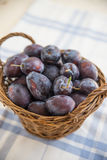 Fresh ripe plums Royalty Free Stock Images