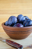 Fresh ripe plums Stock Images