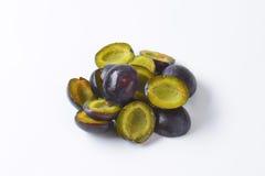Fresh ripe plums Royalty Free Stock Photos