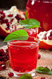 Fresh ripe pomegranate Stock Images