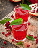 Fresh ripe pomegranate Royalty Free Stock Images