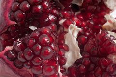 fresh  ripe  pomegranate on white background Royalty Free Stock Photo