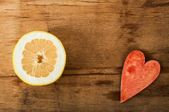 Fresh ripe pomelo Stock Images