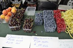 Fresh ripe produce displayed for sale Stock Photography