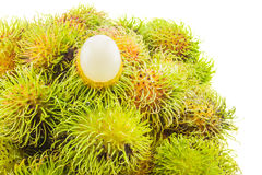Fresh and ripe rambutans Royalty Free Stock Photos