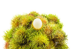 Fresh and ripe rambutans Royalty Free Stock Photography