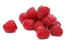 Fresh ripe raspberries Stock Photos
