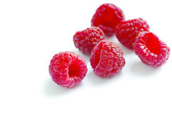 Fresh ripe raspberries Stock Image