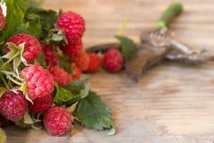 Fresh ripe raspberries Stock Image