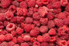 Fresh ripe raspberry as a background. Photo of an abstract texture Stock Photo