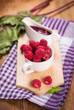 Fresh ripe raspberry Royalty Free Stock Image