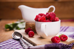 Fresh ripe raspberry Stock Images