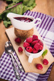 Fresh ripe raspberry Stock Images