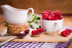 Fresh ripe raspberry Stock Photo