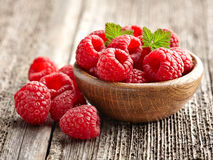 Fresh and ripe raspberry Royalty Free Stock Photos